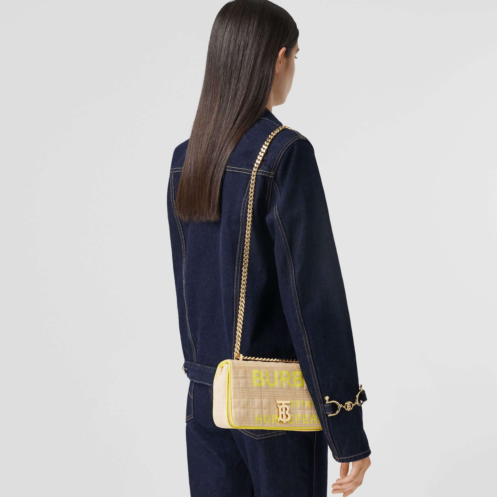 Small Horseferry Print Quilted Raffia Lola Bag - Women | Burberry - gallery image 2