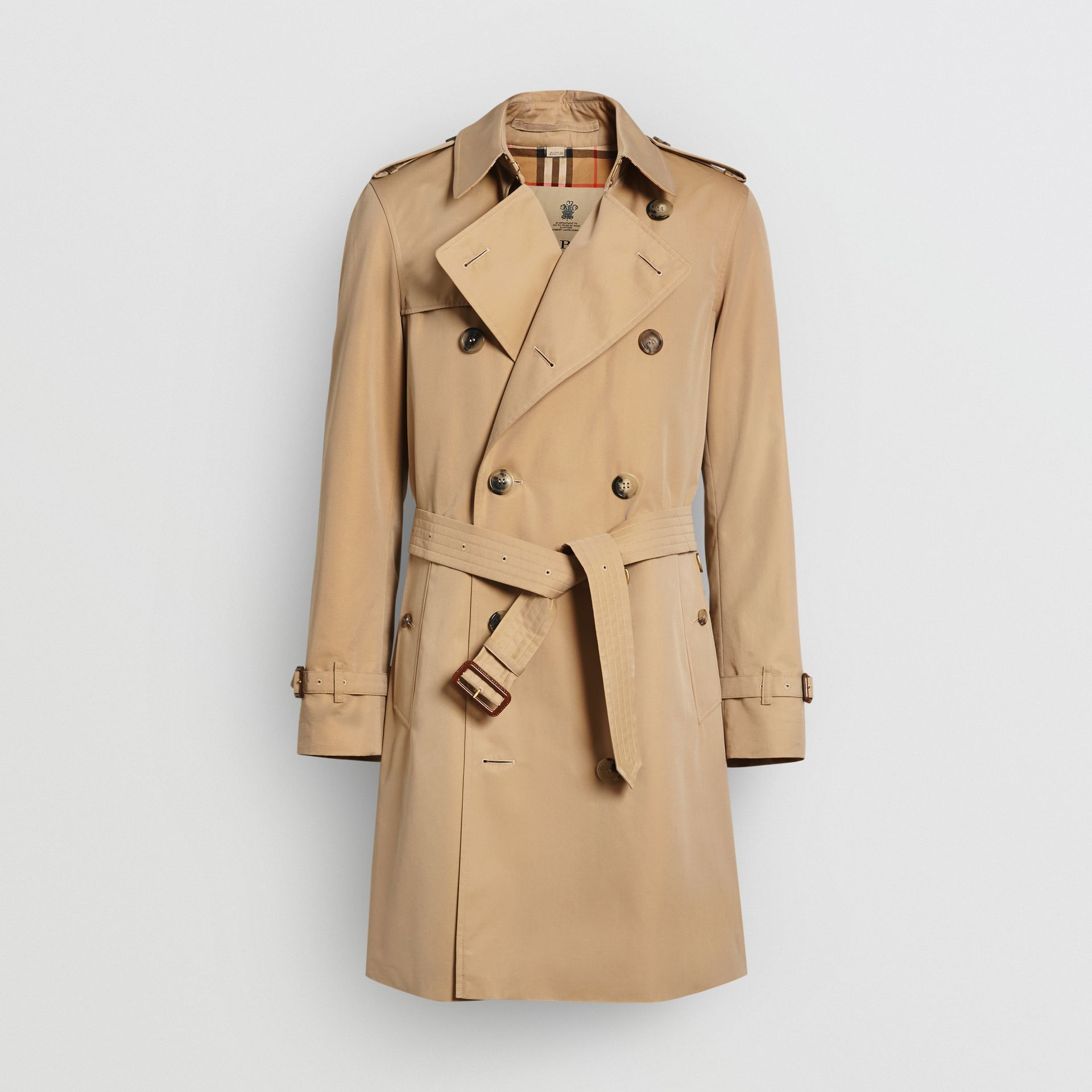 The Mid-length Chelsea Heritage Trench Coat in Honey - Men | Burberry United Kingdom - gallery image 3
