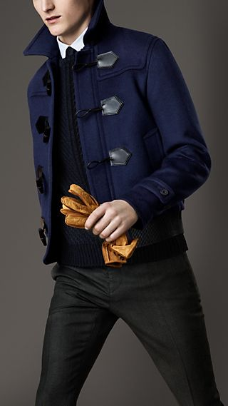 Leather Detail Duffle Blouson