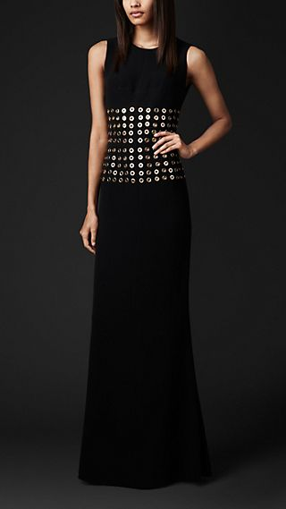 Metal Eyelet Bodice Dress