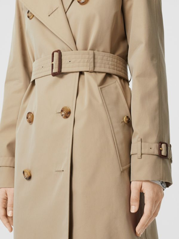 The Long Waterloo Heritage Trench Coat in Honey | Burberry - cell image 3