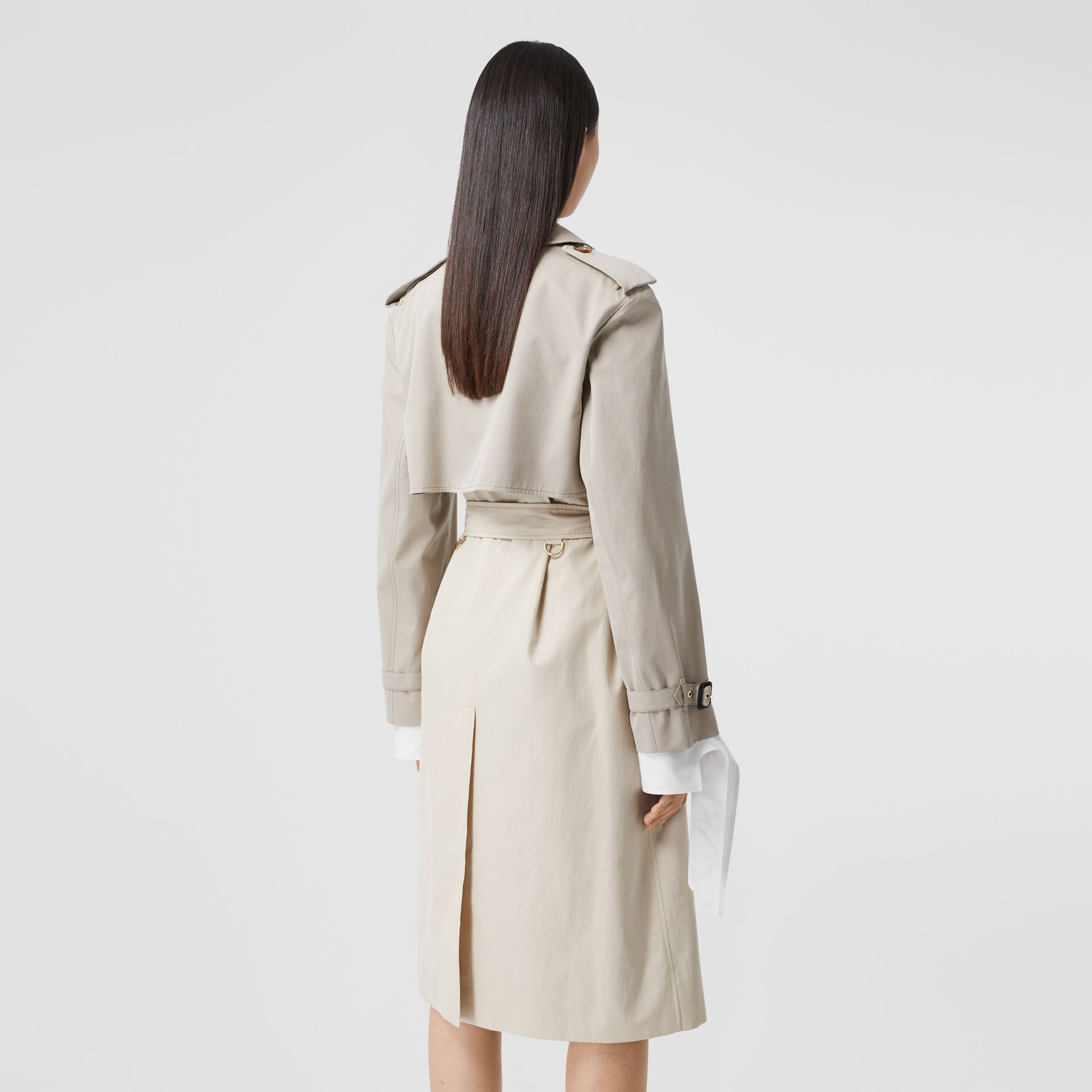 Two-tone Reconstructed Trench Coat in Light Sand - Women | Burberry United Kingdom - gallery image 2