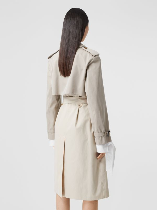 Two-tone Reconstructed Trench Coat in Light Sand - Women | Burberry United Kingdom - cell image 2