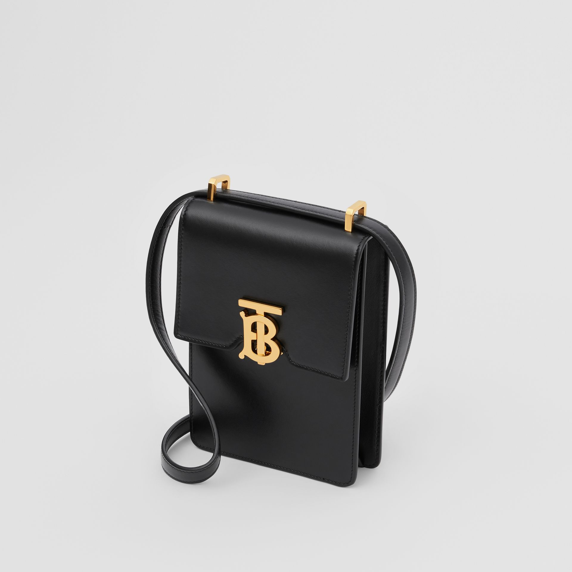Leather Robin Bag in Black - Women | Burberry Australia - gallery image 4