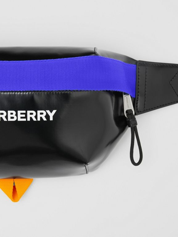 Logo Print Coated Canvas Sonny Bum Bag in Black/multicolour | Burberry United Kingdom - cell image 1
