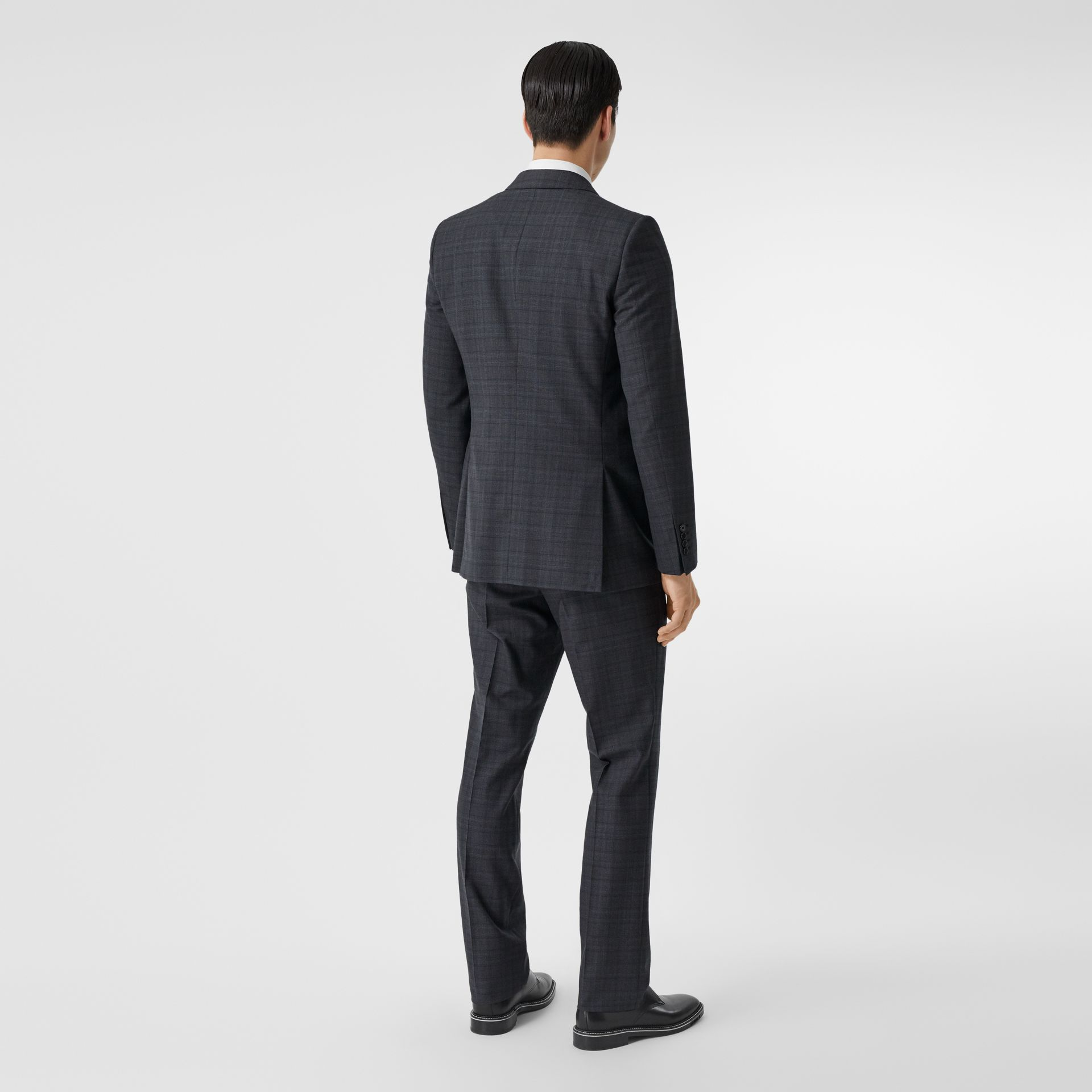English Fit Check Wool Suit in Steel Blue | Burberry - gallery image 2