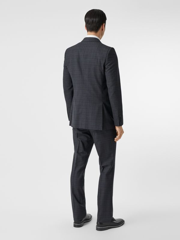 English Fit Check Wool Suit in Steel Blue | Burberry - cell image 2