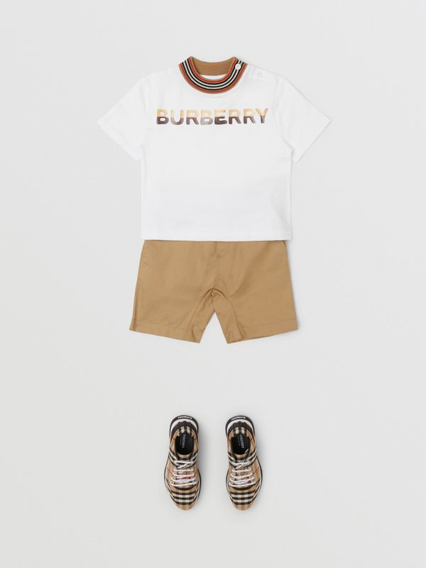 Confectionery Logo Print Cotton T-shirt in White - Children | Burberry - cell image 3