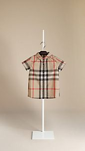Short Sleeve Check Blouse