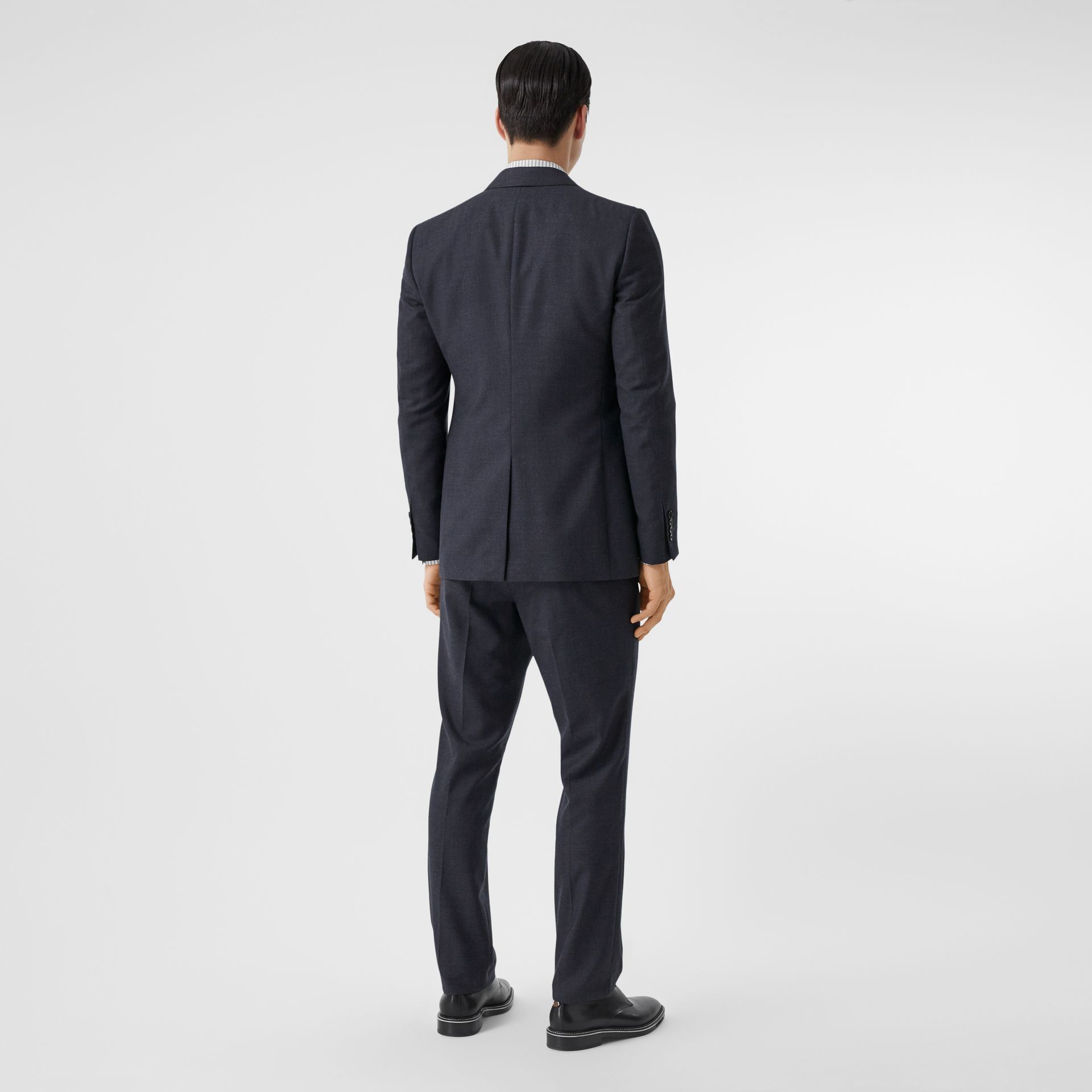 Classic Fit Wool Three-piece Suit in Navy - Men | Burberry - gallery image 2