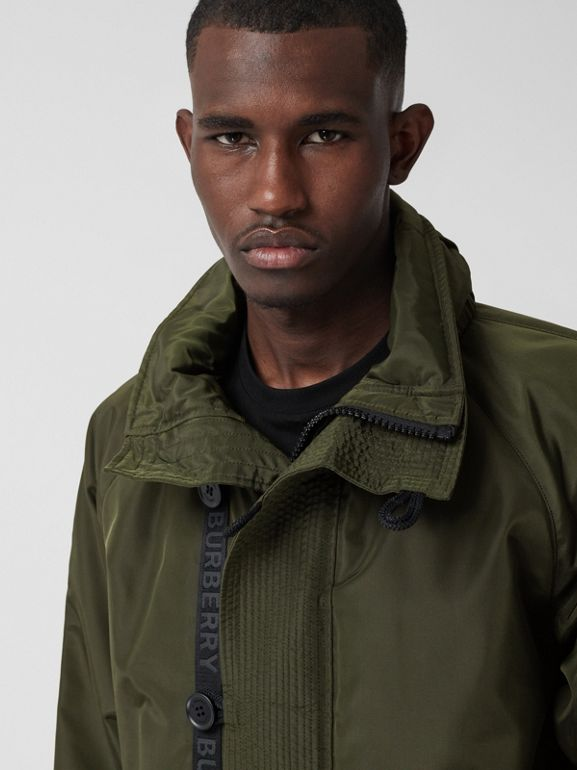 Packaway Hood Logo Tape Nylon Canvas Parka in Dark Olive - Men | Burberry Hong Kong S.A.R. - cell image 1