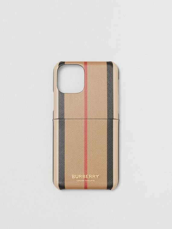 Icon Stripe E-canvas iPhone 11 Pro Case in Archive Beige