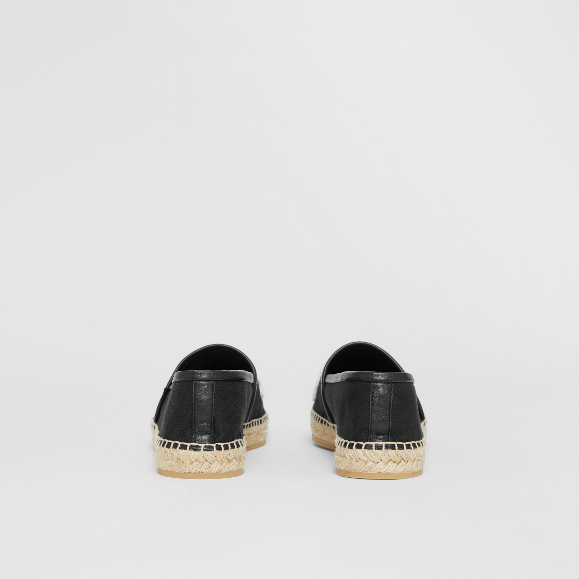 Love Motif Cotton Espadrilles in Black - Women | Burberry - gallery image 4