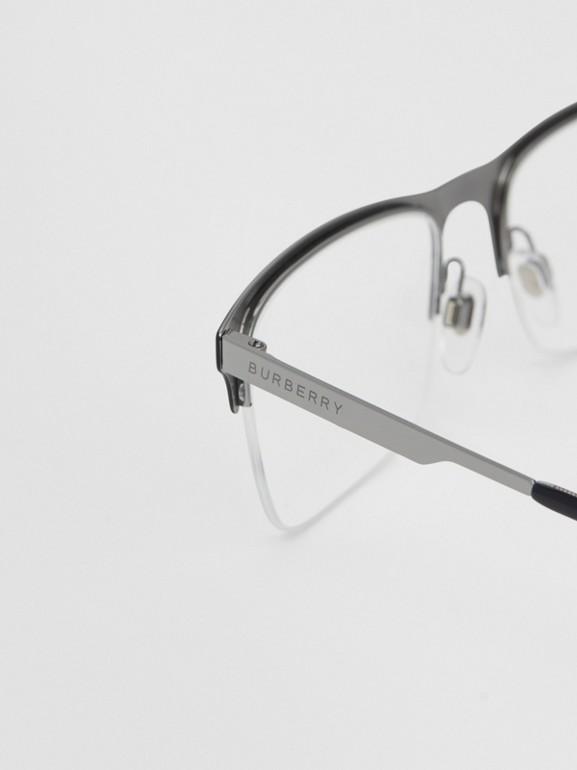 Óculos de grau com armação retangular (Preto Fosco) - Homens | Burberry - cell image 1