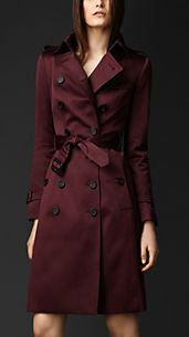 Cotton Sateen Trench Coat