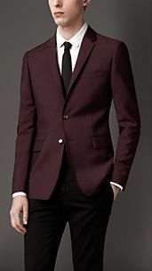 Slim Fit Wool Mohair Jacket