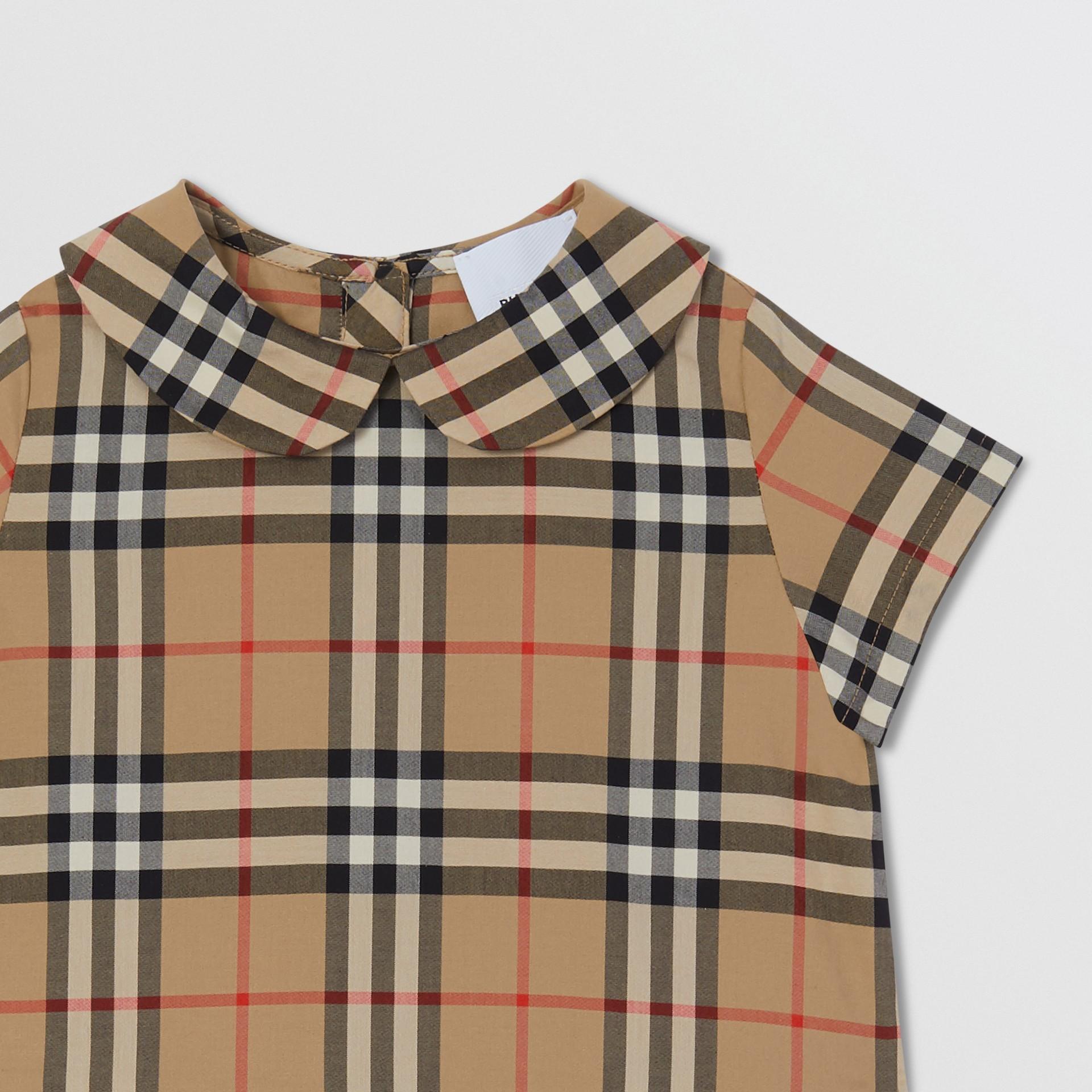 Peter Pan Collar Vintage Check Cotton Dress - Children | Burberry United Kingdom - gallery image 3