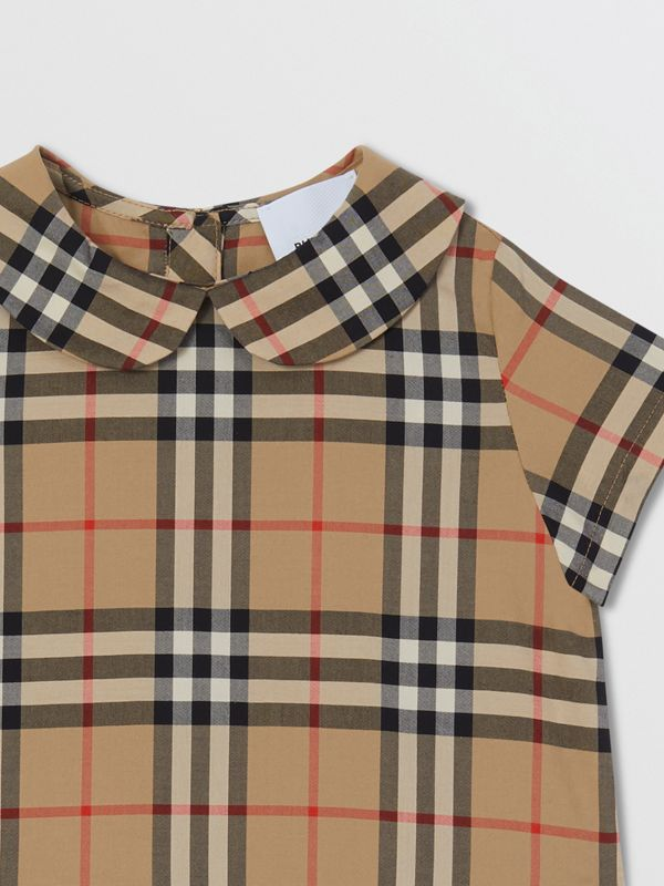 Peter Pan Collar Vintage Check Cotton Dress - Children | Burberry United Kingdom - cell image 3