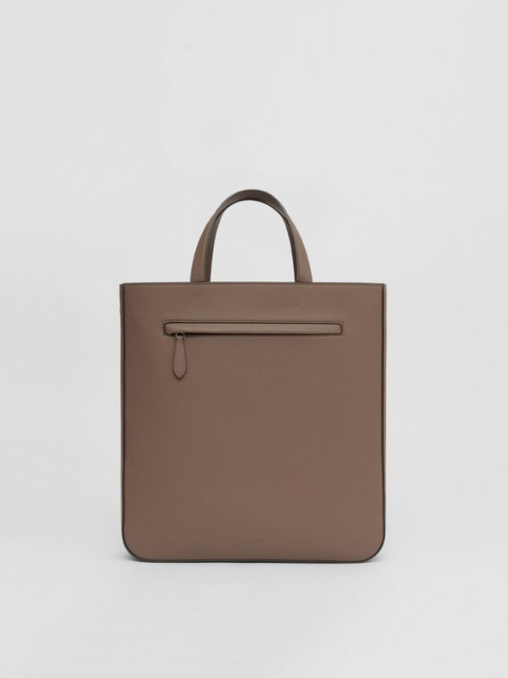 Grainy Leather Tote in Light Acorn
