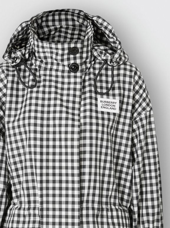 Packaway Hood Gingham Parka - Women | Burberry - cell image 1