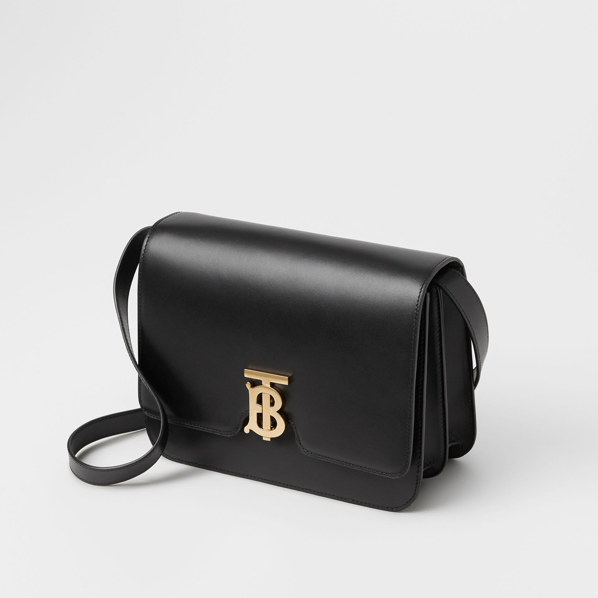 Medium Leather TB Bag in Black - Women | Burberry - gallery image 4