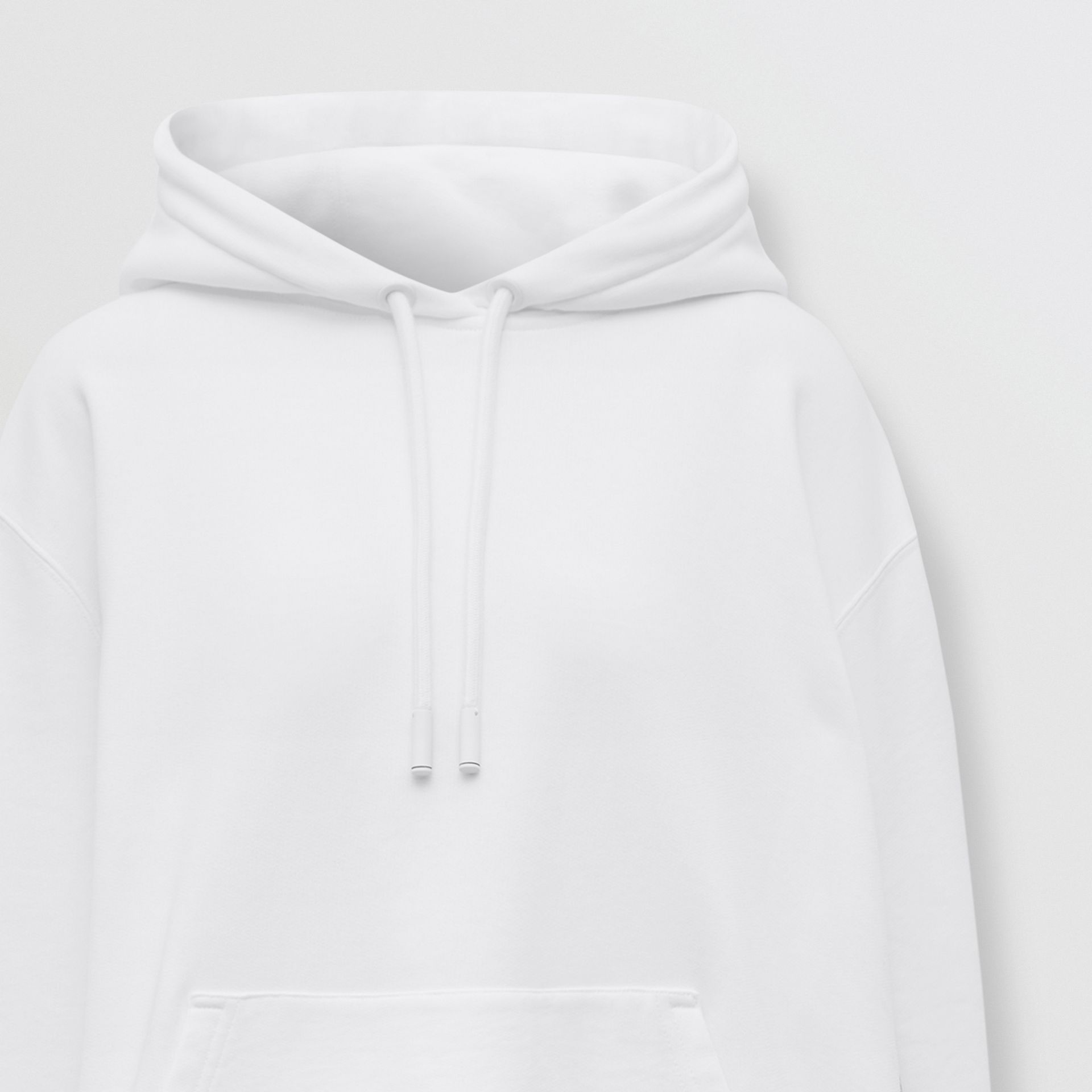 Coordinates Print Cotton Oversized Hoodie in White - Women | Burberry - gallery image 6