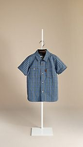 Contrast Gingham Check Shirt