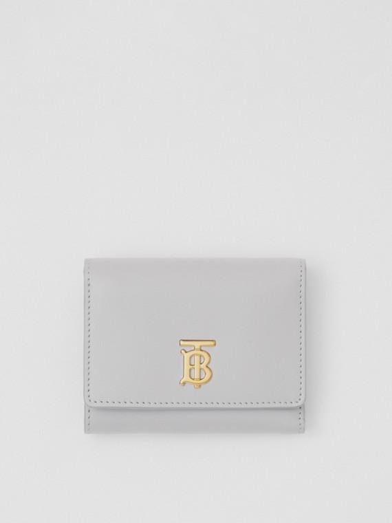 Small Monogram Motif Leather Folding Wallet in Heather Melange