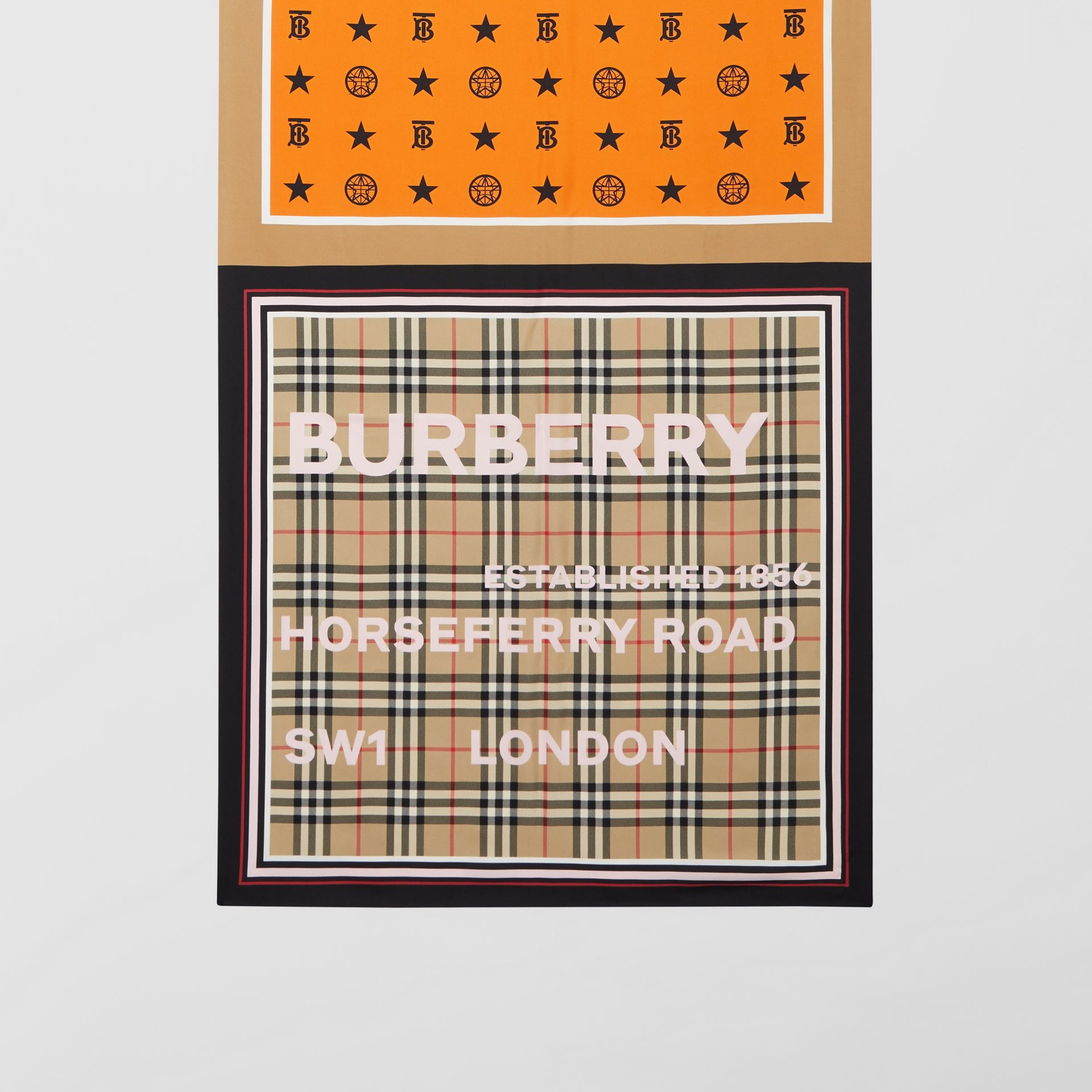 Montage Print Silk Scarf in Alabaster Pink | Burberry - gallery image 3
