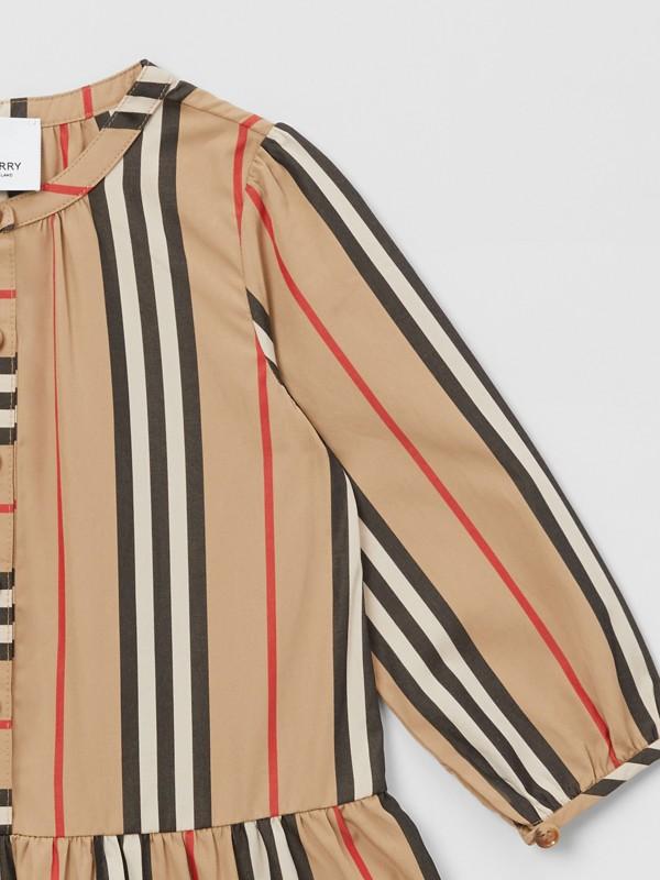 Icon Stripe Gathered Cotton Poplin Dress - Children | Burberry United Kingdom - cell image 3