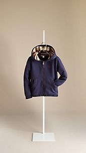 Ruched Trim Hooded Top