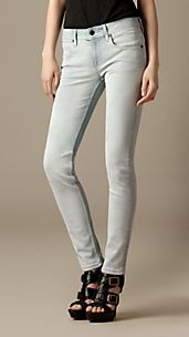 Kensington White Overspray Slim Fit Jeans