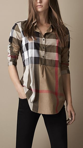 Heritage Detail Check Cotton Tunic