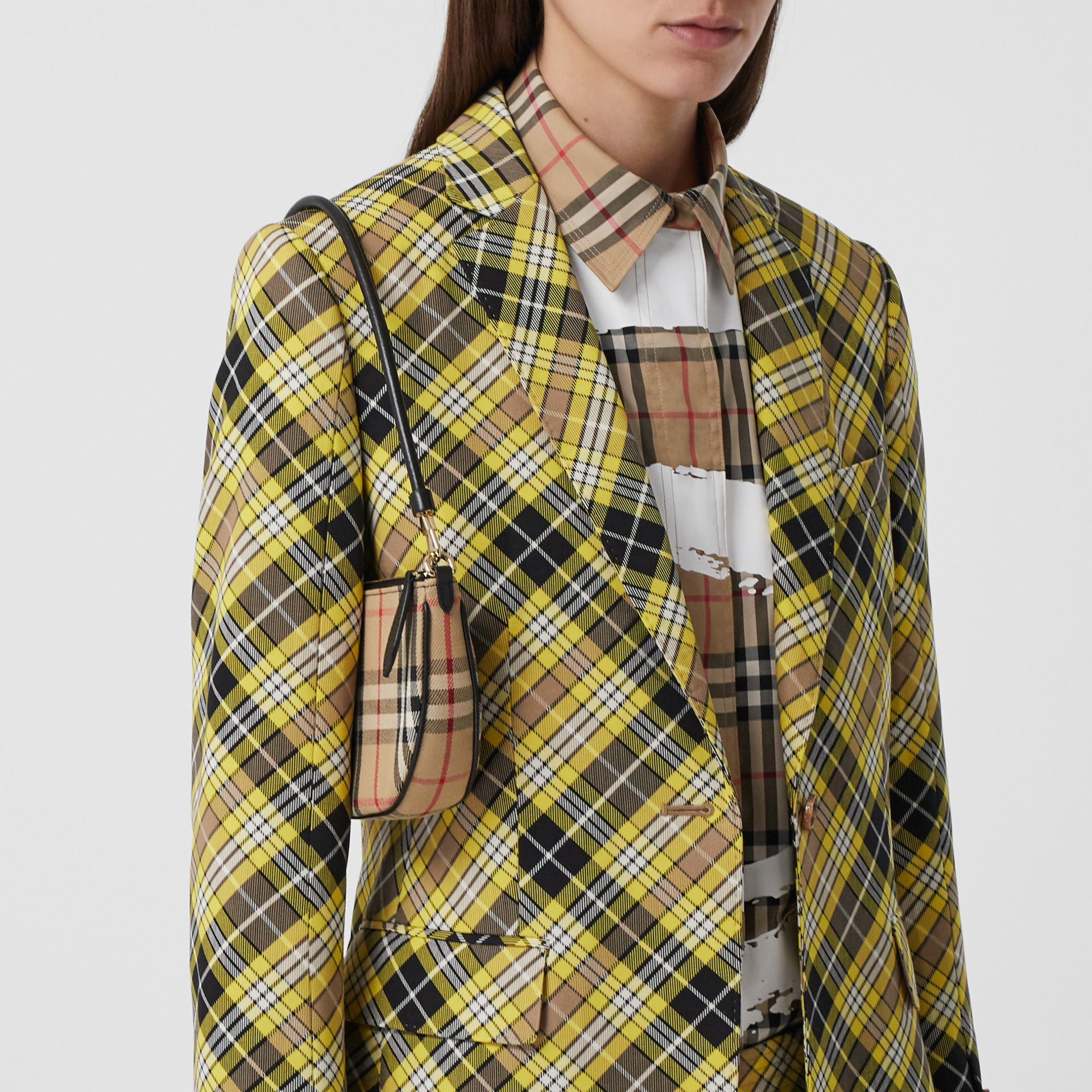 Vintage Check Cotton Olympia Pouch in Archive Beige - Women | Burberry United Kingdom - gallery image 2