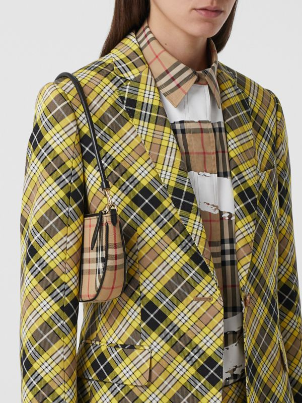 Vintage Check Cotton Olympia Pouch in Archive Beige - Women | Burberry United Kingdom - cell image 2