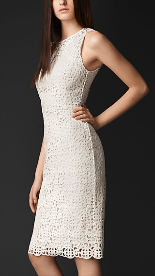 Macramé Lace Shift Dress