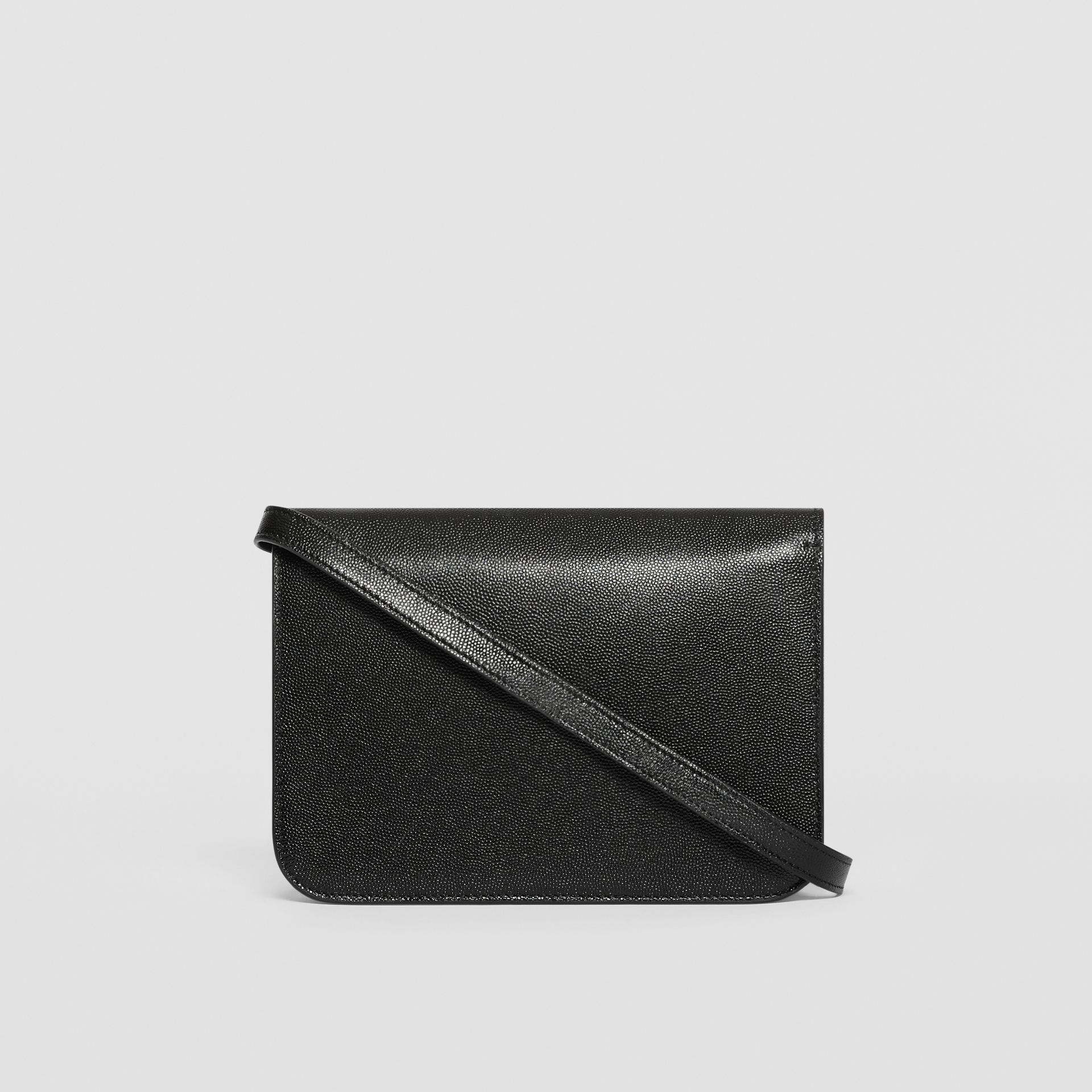 Small Grainy Leather TB Bag in Black - Women | Burberry - gallery image 7