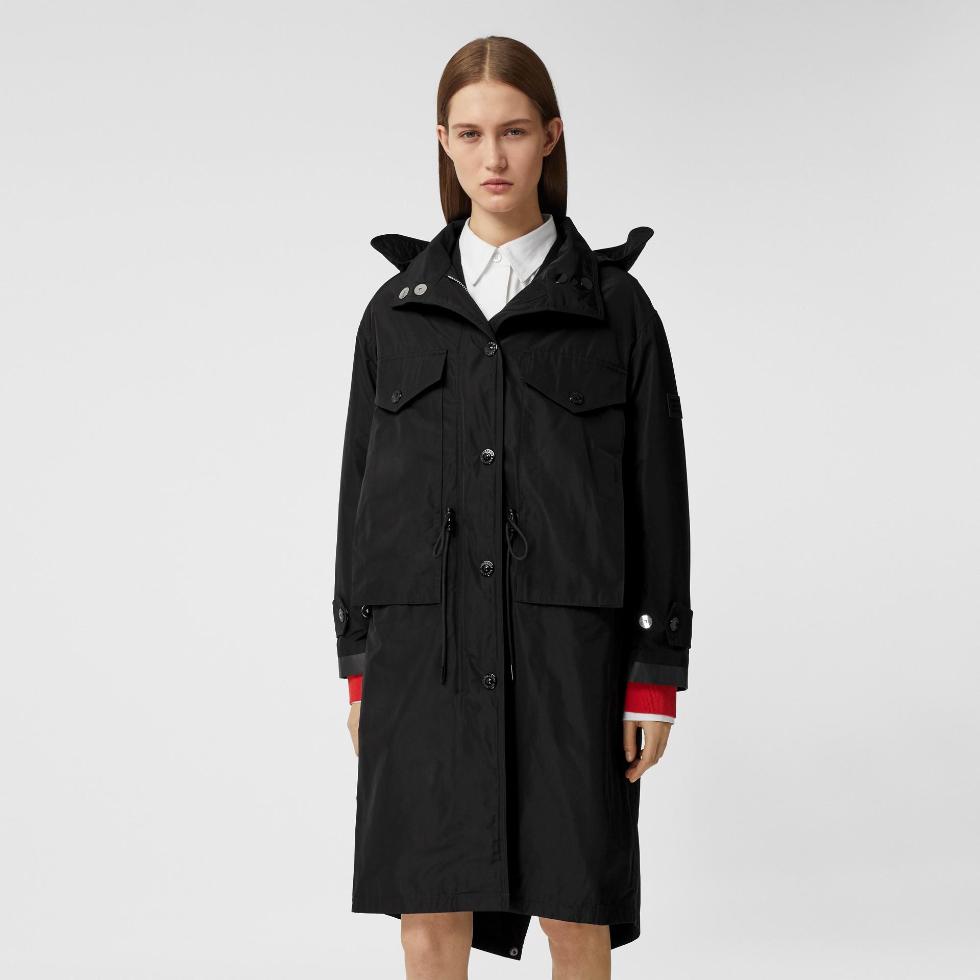 Parka en taffetas à mémoire de forme avec capuche amovible (Noir) - Femme | Burberry - photo de la galerie 5