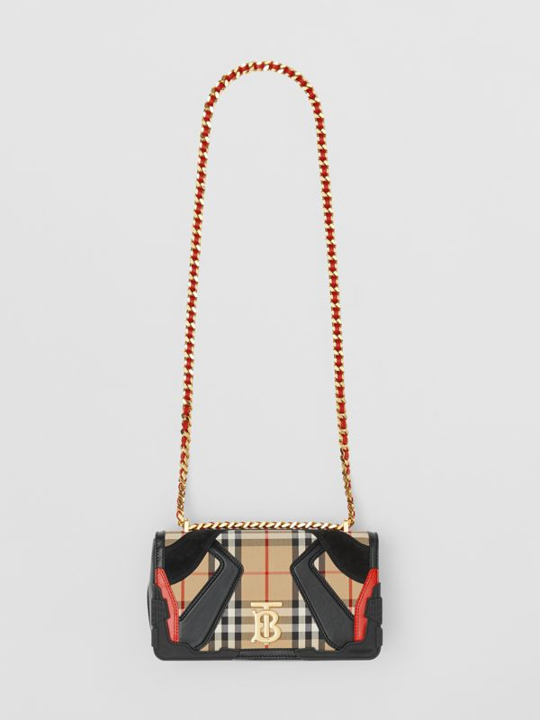 Small Appliqué Vintage Check Lola Bag in Archive Beige - Women | Burberry - cell image 3