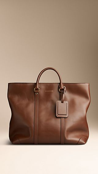 Sartorial Leather Tote Bag