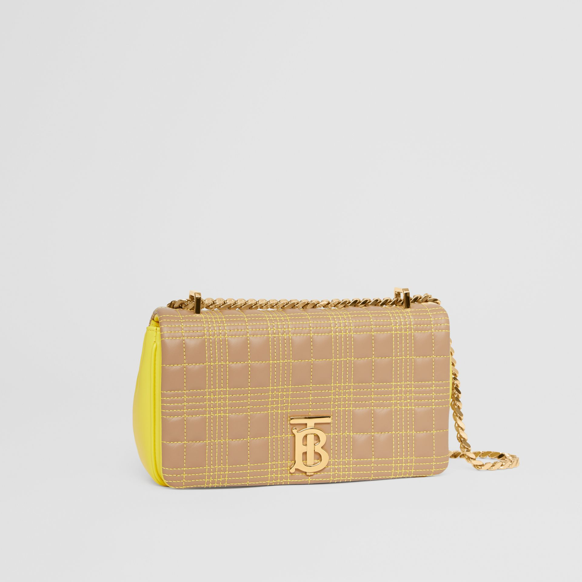 Small Quilted Tri-tone Lambskin Lola Bag in Camel/yellow - Women | Burberry Canada - gallery image 6