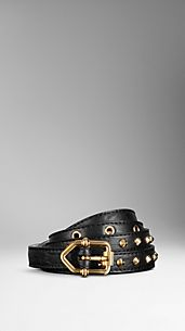 Studded London Leather Belt