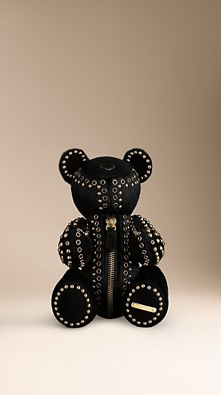 Studded Calf Hair Teddy Bear