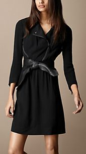 Crêpe Biker Dress