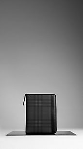 Funda para iPad de checks Charcoal