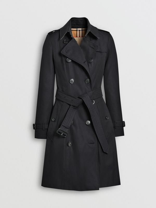 The Mid-length Chelsea Heritage Trench Coat in Midnight - Women | Burberry - cell image 3