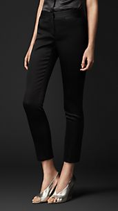Bonded Stretch-Satin Trousers