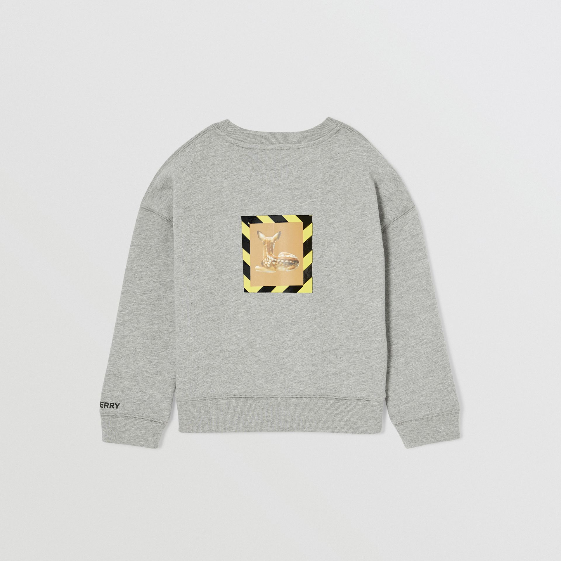 Deer Print Cotton Sweatshirt in Grey Melange | Burberry Hong Kong S.A.R - gallery image 5
