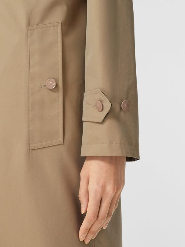 Reversible Cotton and Recycled Polyester Car Coat in Honey - Women | Burberry Australia - cell image 3
