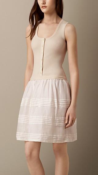 Pleat Detail Ramie Dress